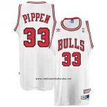 Camiseta Chicago Bulls Scottie Pippen #33 Retro Blanco