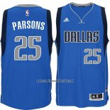 Camiseta Dallas Mavericks Chandler Parsons #25 Azul