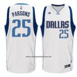 Camiseta Dallas Mavericks Chandler Parsons #25 Blanco