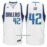 Camiseta Dallas Mavericks David Lee #42 Blanco
