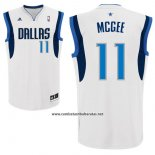 Camiseta Dallas Mavericks JaVale McGee #11 Blanco