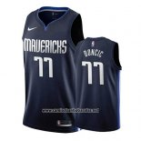 Camiseta Dallas Mavericks Luka Doncic #77 Statement 2019-20 Azul