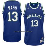 Camiseta Dallas Mavericks Steve Nash #13 Retro Azul