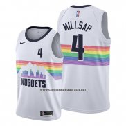 Camiseta Denver Nuggets Paul Millsap #4 Ciudad Edition Blanco