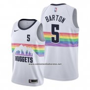 Camiseta Denver Nuggets Will Barton #5 Ciudad Edition Blanco