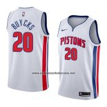 Camiseta Detroit Pistons Dwight Buycks #20 Association 2018 Blanco