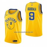 Camiseta Golden State Warriors Andre Iguodala #9 Hardwood Classic 2018-19 Amarillo