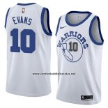 Camiseta Golden State Warriors Jacob Evans #10 Hardwood Classic 2018-19 Blanco