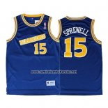 Camiseta Golden State Warriors Latrell Sprewell #15 Retro Azul
