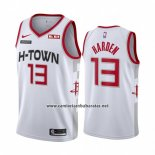 Camiseta Houston Rockets James Harden #13 Ciudad 2019-20 Blanco