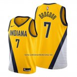 Camiseta Indiana Pacers Malcolm Brogdon #7 Statement Edition Amarillo