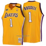 Camiseta Los Angeles Lakers D'Angelo Russell #1 Retro 1999-00 Amarillo