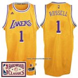 Camiseta Los Angeles Lakers D'Angelo Russell #1 Retro Amarillo