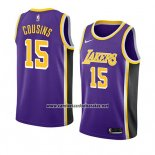Camiseta Los Angeles Lakers Demarcus Cousins #15 Statement 2019-20 Violeta