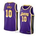 Camiseta Los Angeles Lakers Jemerrio Jones #10 Statement 2018-19 Violeta