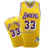 Camiseta Los Angeles Lakers Kareem Abdul-Jabbar #33 Retro Amarillo