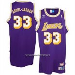 Camiseta Los Angeles Lakers Kareem Abdul-Jabbar #33 Retro Violeta