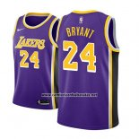 Camiseta Los Angeles Lakers Kobe Bryant #24 Statement 2018 Violeta