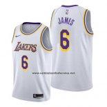 Camiseta Los Angeles Lakers Lebron James #6 Association 2019-20 Blanco