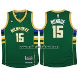 Camiseta Milwaukee Bucks Greg Monroe #15 Verde
