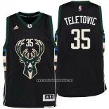 Camiseta Milwaukee Bucks Mirza Teletovic #35 Negro