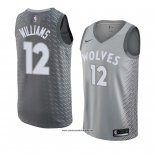 Camiseta Minnesota Timberwolves C. J. Williams #12 Ciudad 2018 Gris