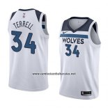 Camiseta Minnesota Timberwolves Jared Terrell #34 Association 2018 Blanco