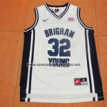 Camiseta NCAA Brigham Young University Jimmer Fredette #32 Blanco