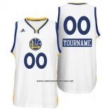 Camiseta Navidad 2014 Golden State Warriors Adidas Personalizada Blanco