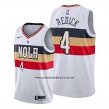 Camiseta New Orleans Pelicans J.j. Redick #4 Earned Blanco2