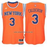 Camiseta New York Knicks Jose Calderon #3 Naranja