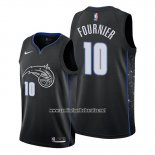 Camiseta Orlando Magic Evan Fournier #10 Ciudad Edition Negro