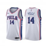 Camiseta Philadelphia 76ers Norvel Pelle #14 Association 2019-20 Blanco