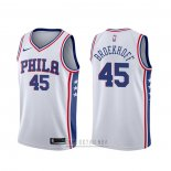 Camiseta Philadelphia 76ers Ryan Broekhoff #45 Association Blanco