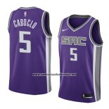 Camiseta Sacramento Kings Bruno Caboclo #5 Icon 2018 Violeta