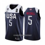 Camiseta USA Donovan Mitchell #5 2019 FIBA Basketball World Cup Azul