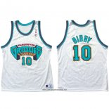 Camiseta Vancouver Grizzlies Mike Bibby #10 Historic Retro Blanco