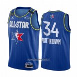 Camiseta All Star 2020 Milwaukee Bucks Giannis Antetokounmpo #34 Azul