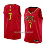 Camiseta Atlanta Hawks Jeremy Lin #7 Statement 2018-19 Rojo