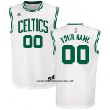 Camiseta Boston Celtics Adidas Personalizada Blanco