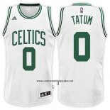 Camiseta Boston Celtics Jayson Tatum #0 Blanco