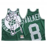 Camiseta Boston Celtics Kemba Walker #8 Mitchell & Ness Big Face Verde