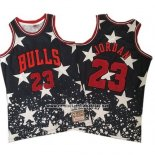 Camiseta Chicago Bulls Michael Jordan #23 Hardwood Retro 1997-98 Negro