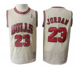 Camiseta Chicago Bulls Michael Jordan Retro #23 Crema
