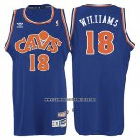 Camiseta Cleveland Cavaliers Mo Williams #18 Retro 2008 Azul