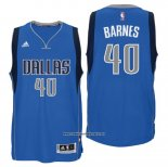 Camiseta Dallas Mavericks Harrison Barnes #40 Azul