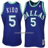 Camiseta Dallas Mavericks Jason Kidd #5 Retro Azul