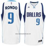 Camiseta Dallas Mavericks Rajon Rondo #9 Blanco
