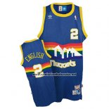 Camiseta Denver Nuggets Alex English #2 Retro Azul