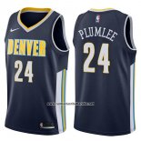 Camiseta Denver Nuggets Mason Plumlee #24 Icon 2017-18 Azul